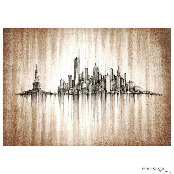 NEW YORK Panorama Mix – PAPER Print