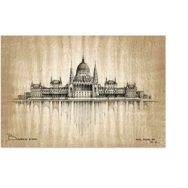 BUDAPEST - MAGNET or PRINT with Mat