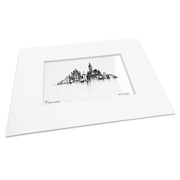 KOŠICE BW - MAGNET or PRINT with Mat