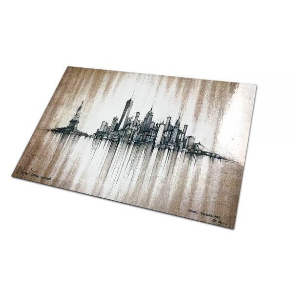 NEW YORK - MAGNET or PRINT with Mat