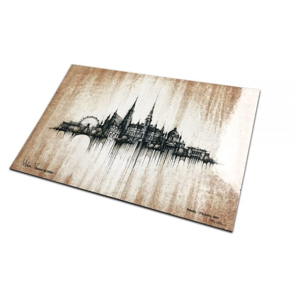 VIENNA / WIEN - MAGNET or PRINT with Mat