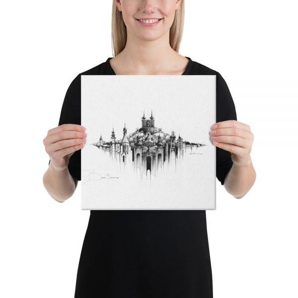 BANSKÁ ŠTIAVNICA Panorama Mix - CANVAS Print