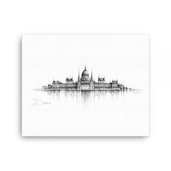 BUDAPEST Panorama Mix - CANVAS Print