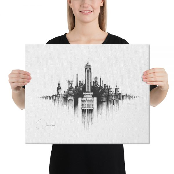 OSTRAVA Panorama Mix - CANVAS Print