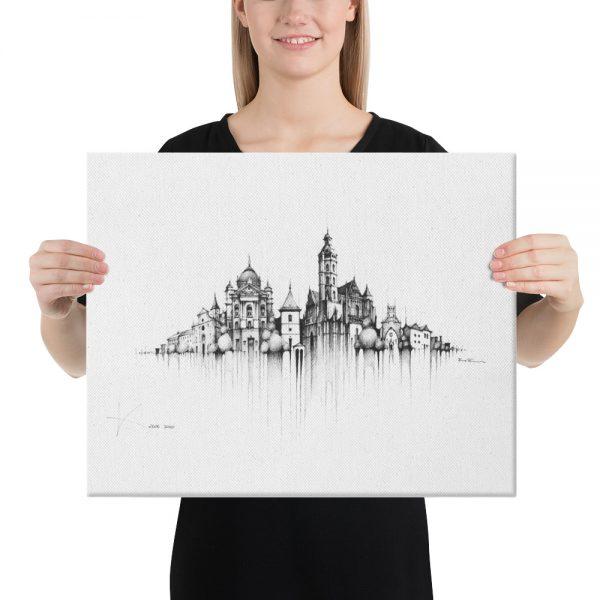 KOŠICE Panorama Mix - CANVAS Print