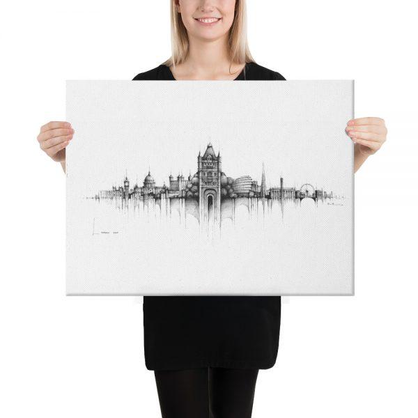 LONDON Panorama Mix - CANVAS Print