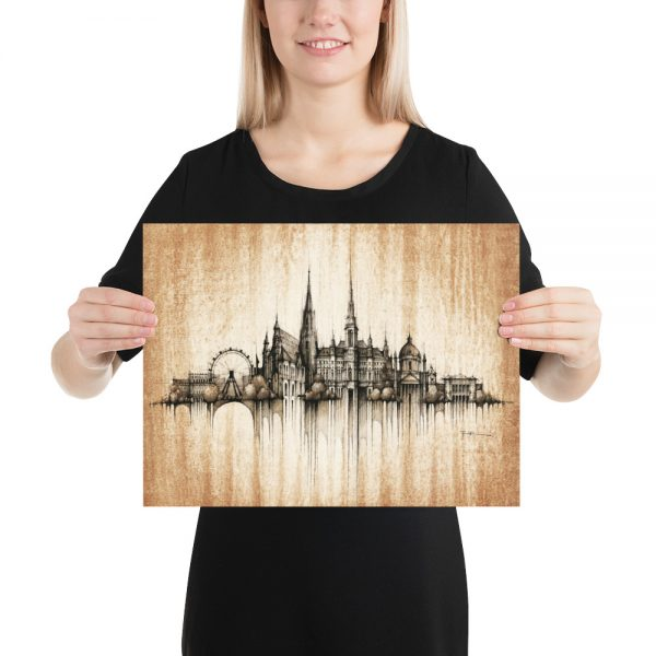 VIENNA / WIEN Panorama Mix – Coffee – POSTER Paper Print
