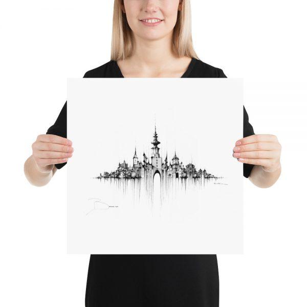 BRATISLAVA Panorama Mix - PAPER Print