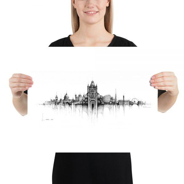 LONDON Panorama Mix – PAPER Print