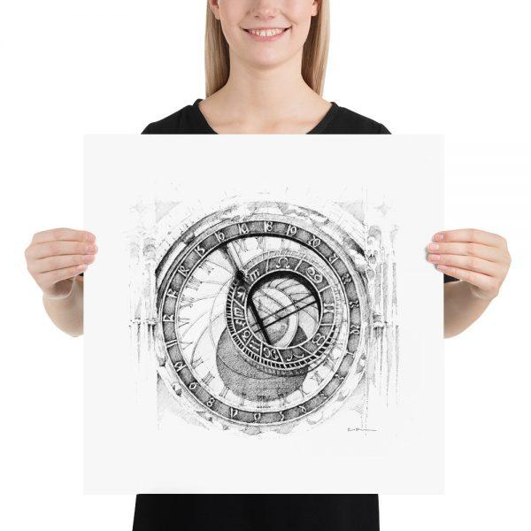 PRAGUE / PRAHA Astronomical Clock – PAPER Print
