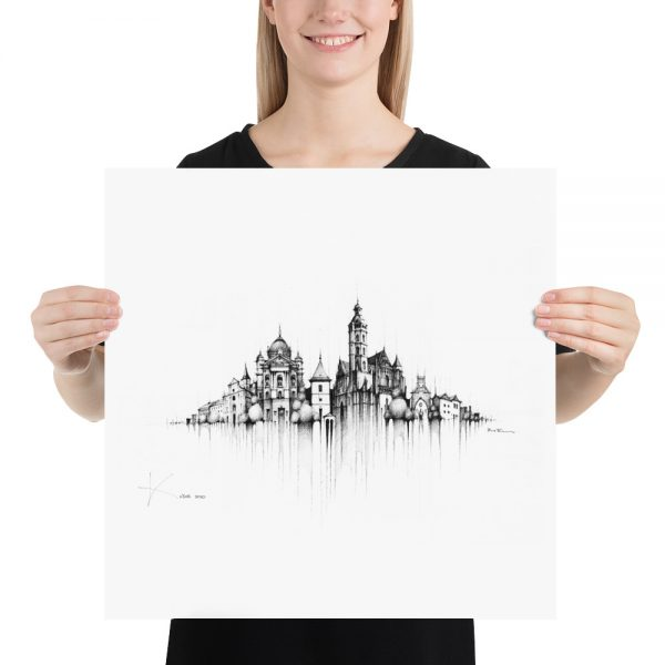 KOŠICE Panorama Mix – PAPER Print