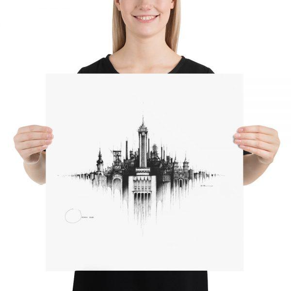 OSTRAVA Panorama Mix – PAPER Print
