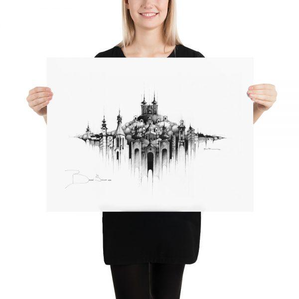 BANSKÁ ŠTIAVNICA Panorama Mix – PAPER Print