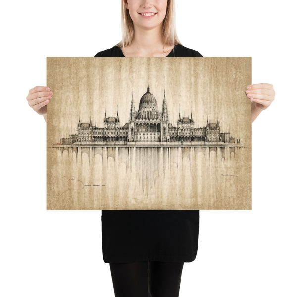 BUDAPEST Parliament – Coffee – POSTER Paper Print