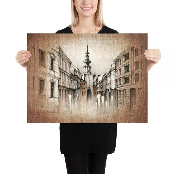 BRATISLAVA Michalská Street II – PAPER Print