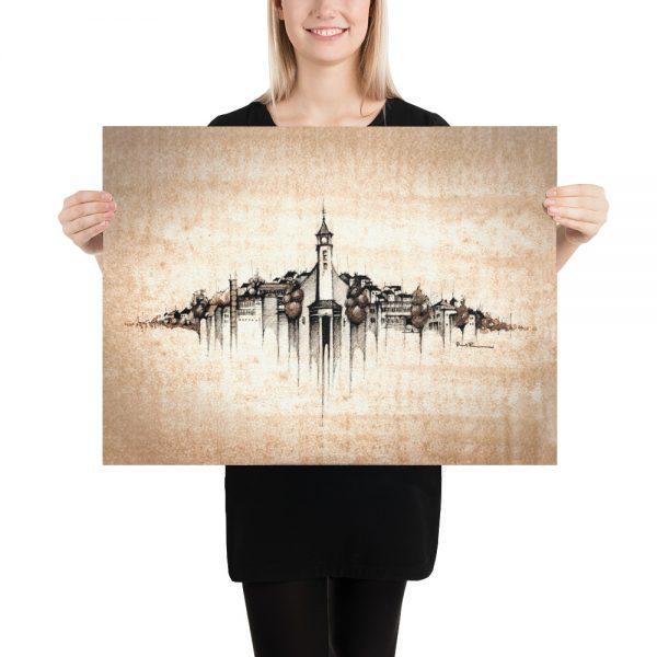 VALAŠSKÁ POLANKA Panorama Mix – Paper Print