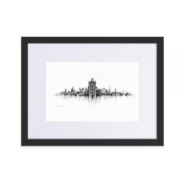 LONDON Panorama Mix – FRAMED Print with Mat