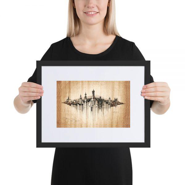 BANSKÁ ŠTIAVNICA Panorama Mix – FRAMED Print with Mat