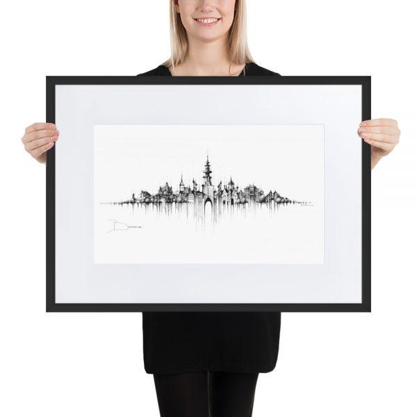 BRATISLAVA Panorama Mix - FRAMED Print with Mat