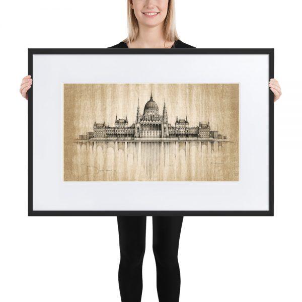 BUDAPEST Parliament – FRAMED Print with Mat