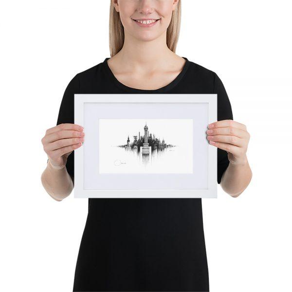 OSTRAVA Panorama Mix – FRAMED Print with Mat