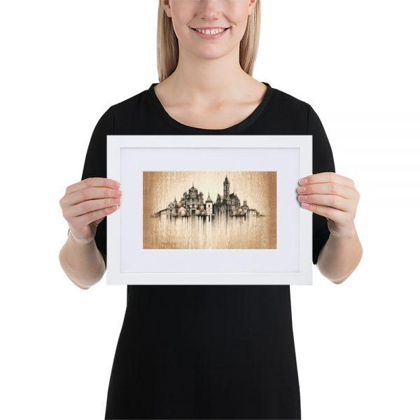 KOŠICE Panorama Mix – FRAMED Print with Mat