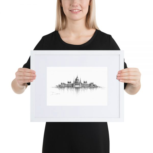 BUDAPEST Panorama Mix – FRAMED Print with Mat