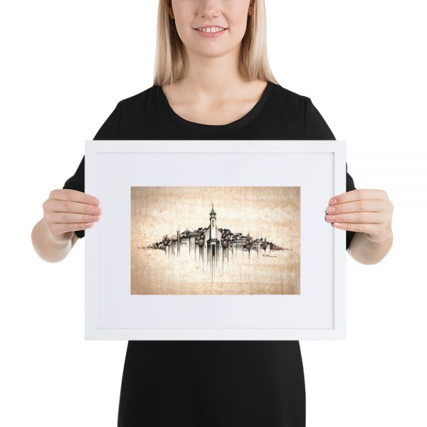 VALAŠSKÁ POLANKA Panorama Mix - FRAMED Print with Mat
