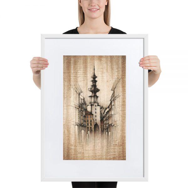 BRATISLAVA Michalská street – FRAMED Print with Mat