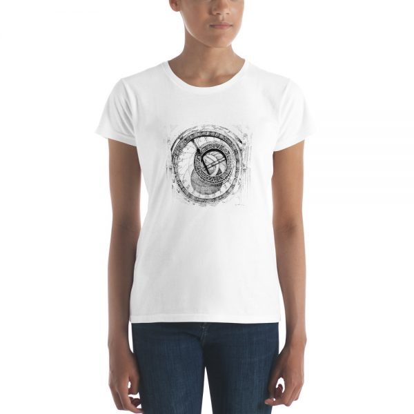 PRAGUE / PRAHA Astronomical Clock - T-SHIRT Woman